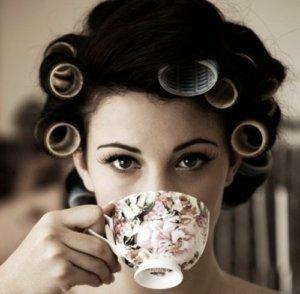 Fisher-senhora-tomando-chá